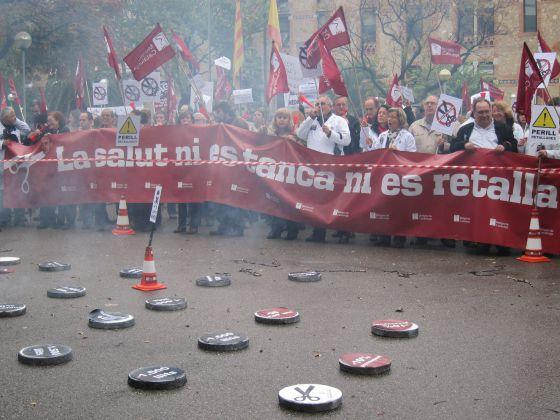 Protesta de Metges de Catalunya ante el Departamento de Salud / EUROPA PRESS