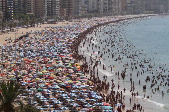 playas benidorm espana