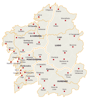 Mapa De Galicia Pueblos.Mapa Galicia Pueblos Mapa