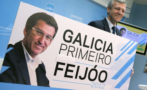 Feijóo presenta su lema y esconde la siglas del partido | Galicia | EL PAÍS