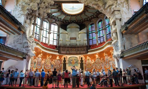jornada de puertas abiertas en el palau de la msica catalana de barcelona