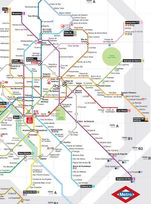 Metro Recupera El Plano Geografico Madrid El Pais