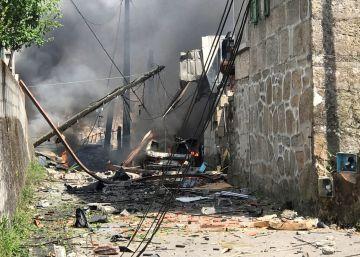 Una potente explosión en un almacén de pirotecnia en Tui deja un muerto y tres desaparecidos