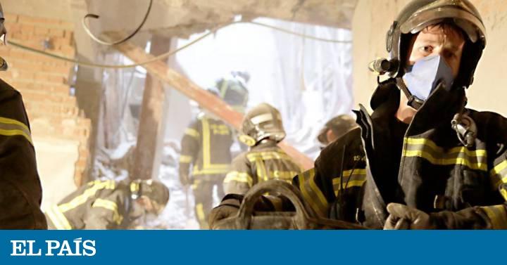 La Busqueda De Los Sepultados En El Edificio Derrumbado Cumple Un