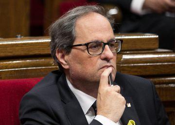 Torra vincula su sí a Sánchez a que el PSOE apoye la libertad de los secesionistas presos