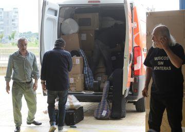 Una tonelada de instrumentos de Vitoria para las escuelas de Siria