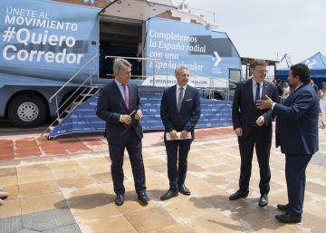 El movimiento #QuieroCorredor reivindica en Castellón ancho internacional y un AVE real