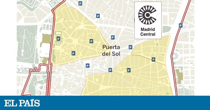 Zona Ser Madrid Mapa 2019.Plano Este Es El Mapa De Madrid Central Madrid El Pais