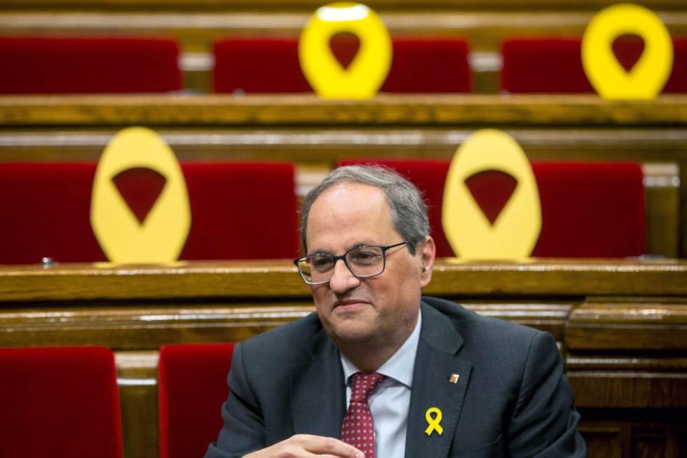 """El 'síndic' insta a Torra a que retire """"de forma excepcional"""" los lazos amarillos"""