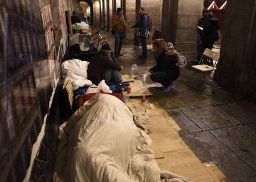 Casi 2.800 personas sin hogar en Madrid, según el censo municipal
