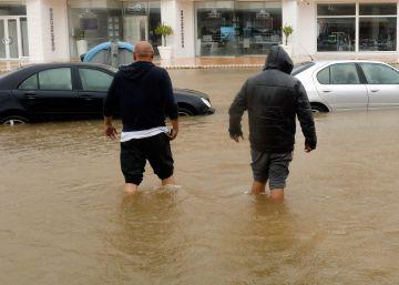 Más de cien personas rescatadas en Xàbia por un temporal que deja más de 300 litros por metro cuadrado