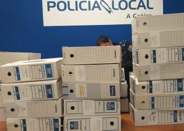 La Guardia Civil aborta la retirada de documentos oficiales en A Cañiza tras la caída del PP