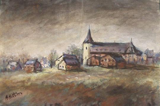 La casa Jefferys, de Lostwithiel, un pueblo de Cornualles, han sacado a subasta 21 acuarelas pintadas por Adolf Hitler con paisajes y escenas campestres.