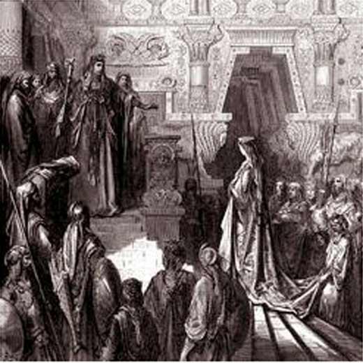 En la imagen, depósito de ofrendas funerario junto al altar del arca de la alianza, en el palacio de Menelek, hijo de la reina de Saba.