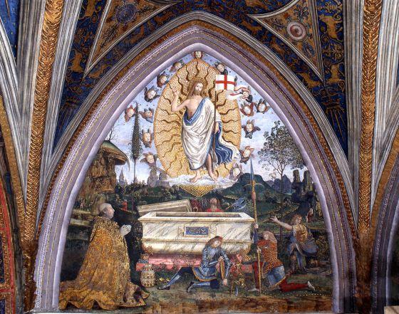 Resultado de imagen de papa alejandro VI resurrección pinturicchio