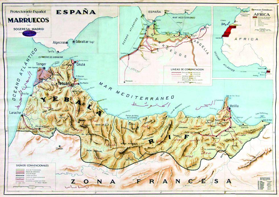 Mapa Marruecos Ceuta Y Melilla.Fotos Siete Enclaves Espanoles En Marruecos Cultura El Pais
