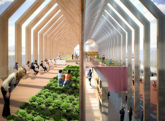 El estudio b720 dise ar el pabell n espa ol en la expo for Pabellones arquitectura efimera