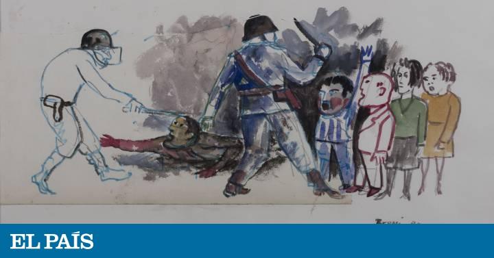 Dibujos inéditos sobre la dictadura argentina desvelan al ...