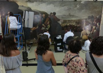 Dentro de dos cuadros vivos de Murillo