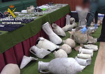 Recuperadas más de 1.240 piezas de arqueología que se vendían en Internet