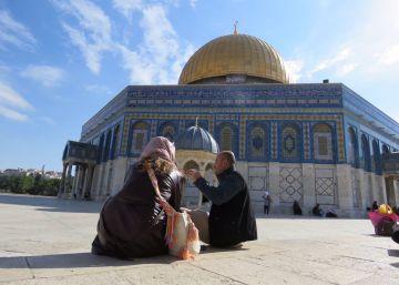 Luz para la cúpula dorada de Jerusalén