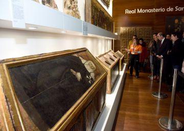 Sijena muestra algunas de las piezas devueltas por Cataluña