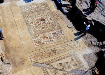 Hallado un lujoso mosaico romano en la población israelí de Lod