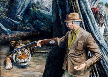 Al tigre le irrita la llamada del leopardo