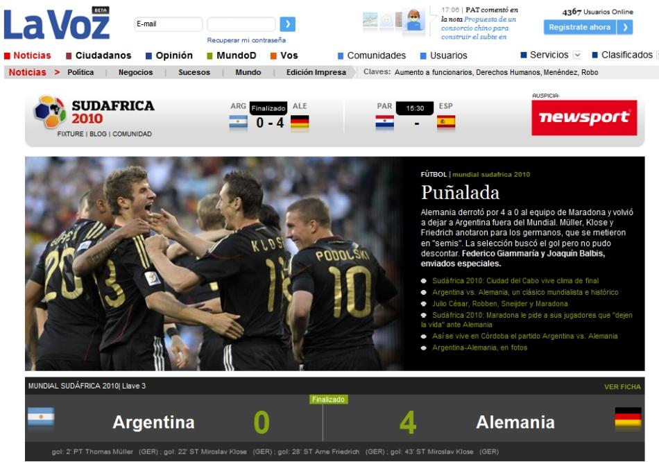 Fotos: Los periódicos argentinos lloran la derrota ante