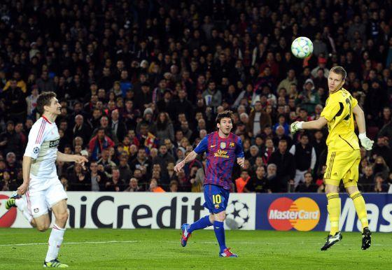Resultado de imagen de messi leverkusen cinco goles