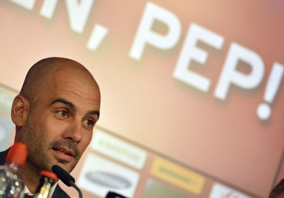La presentación de Guardiola, en imágenes