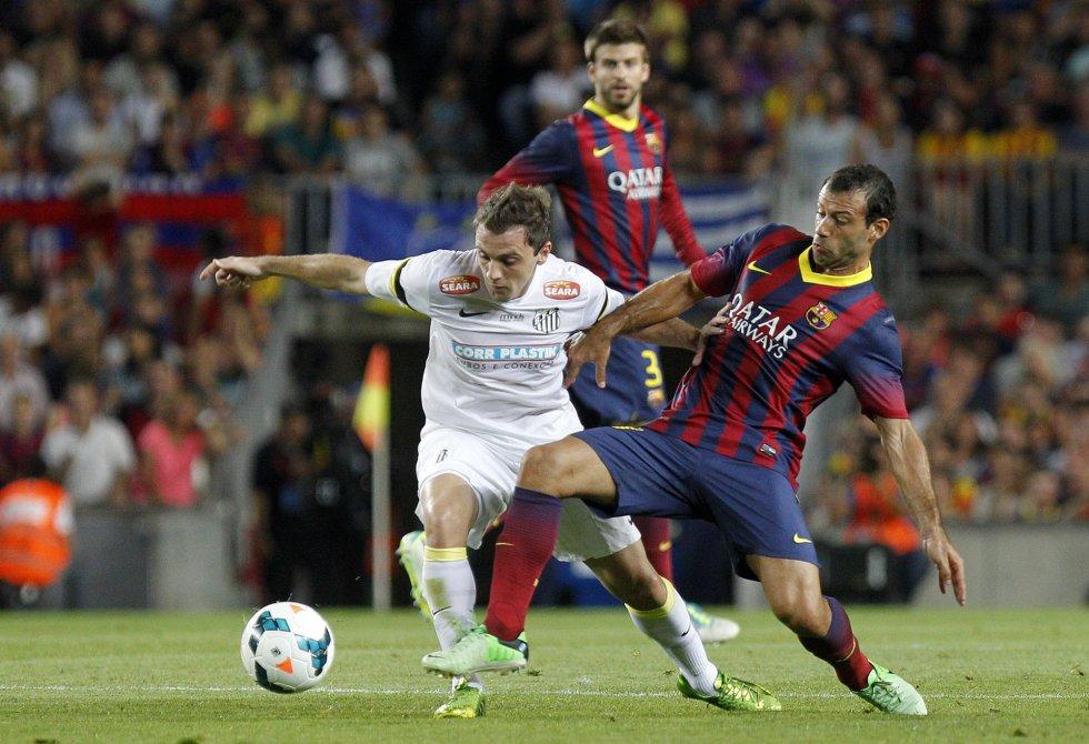 Neymar y Martino, doble bautismo en el Camp Nou