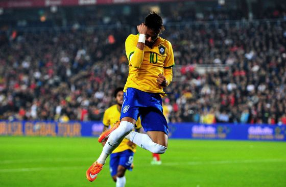 Neymar comemora um gol contra a Turquia. a47548fc48846
