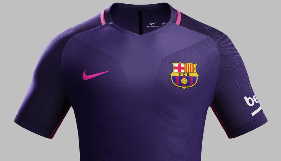 FC Barcelona  La nueva camiseta púrpura del Barça  0ca26c7233d4a
