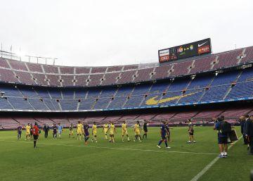 El Barça juega sin público en protesta por el cierre de colegios