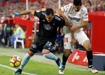 El Sevilla resiste ante un Celta sin puntería