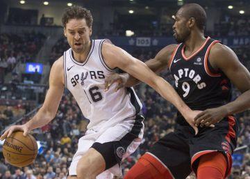 Los Raptors de Ibaka doblegan a los Spurs de Pau