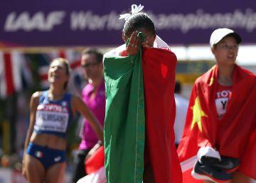 La campeona mundial de marcha se queda sin rivales