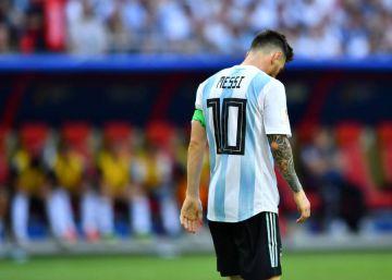Messi pone freno a su etapa en Argentina
