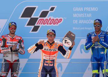 El Márquez más maduro también arriesga para volver a ganar en Aragón