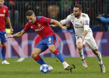 El Real Madrid se estrella ante el CSKA de Moscú