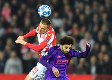 El Liverpool cae ante el Estrella Roja y se complica su futuro en la Champions