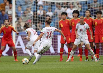 España empata ante China y llega por primera vez a octavos