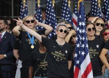 Nueva York celebra el triunfo y el activismo de la selección femenina de fútbol