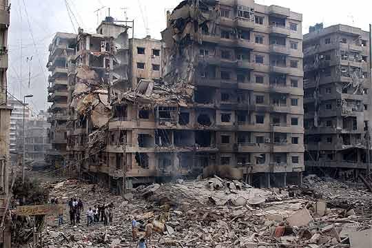 edificios destruidos en beirut tras un bombardeo israel edici n impresa el pa s. Black Bedroom Furniture Sets. Home Design Ideas