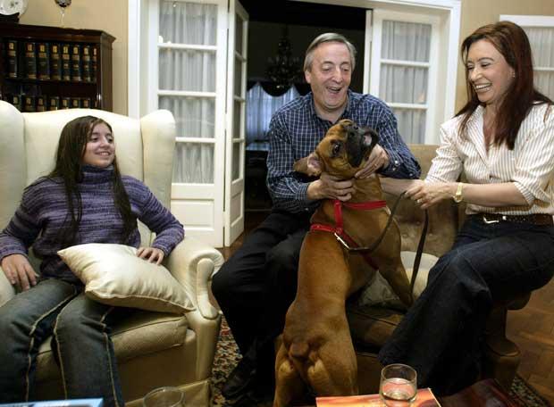 Néstor Kirchner, Con Su Familia