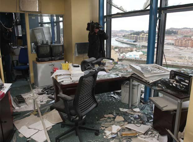Oficinas de antena 3 destrozadas por la explosi n for Bankia buscador de oficinas