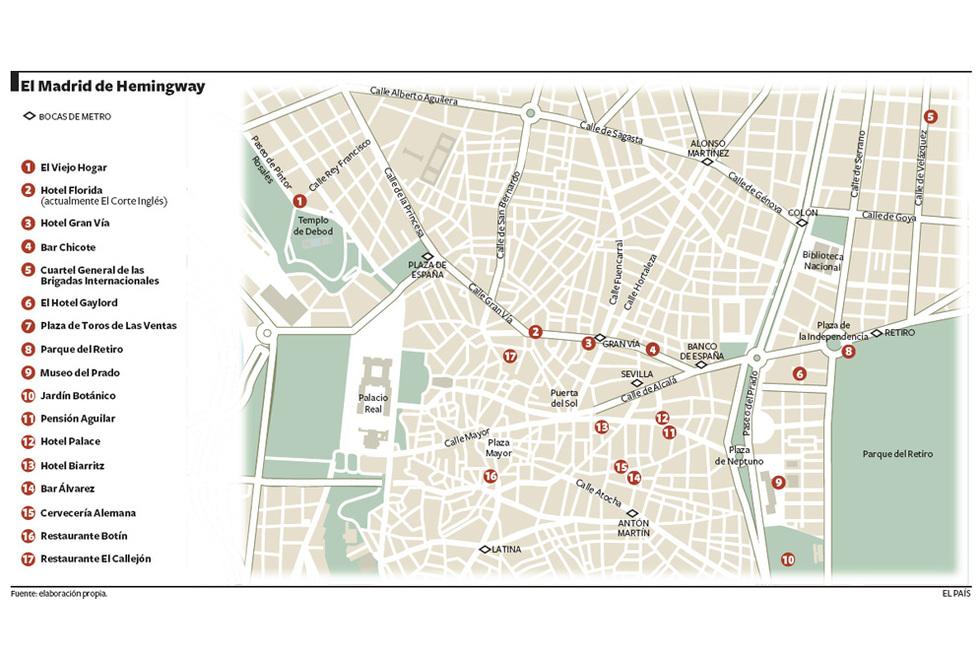Qu queda del Madrid de Hemingway  Edicin impresa  EL PAS