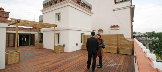 terraza de un tico de lujo en madrid