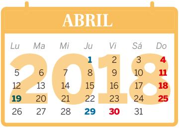 El calendario laboral de 2018 permite cuatro puentes